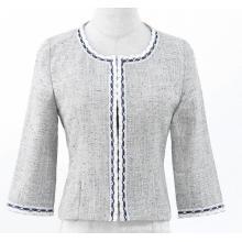 Jaqueta curta casual feminina