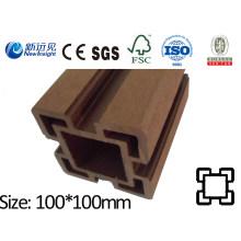 100X100 WPC Post con SGS CE Fsc ISO WPC Valla de madera de plástico compuesto Post valla Lhma069