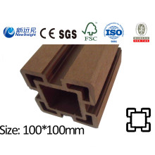 100X100 WPC Post with SGS CE Fsc ISO WPC Fence Wood Plastic Composite Post Fence Lhma069