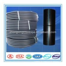 Tubos de PE100 negro precio competitivo con la tira azul pipa del HDPE para abastecimiento de agua