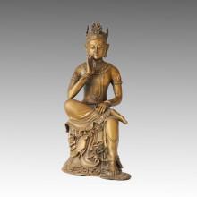 Estatua de Buda Avalokitesvara Escultura de Bronce Tpfx-B42