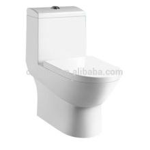 CB-9506 Salle de bains moderne une pièce bol de toilette, toilette en céramique bol double chasse d'eau des matériaux de plomberie