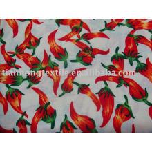 Простой цветок печатных 100 хлопок хлопок ткани текстильные