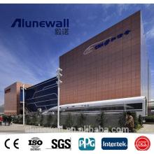 Alunewall 3mm / 4mm panneau composite aluminium cuivre brun ACP / CCP pour revêtement intérieur / extérieur