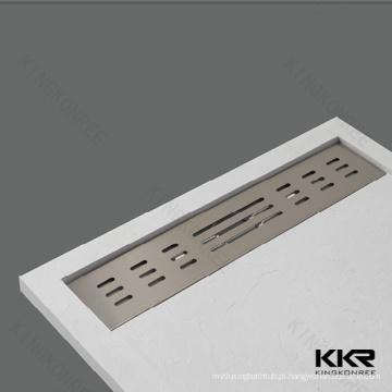 Bandeja de chuveiro artificial da superfície do chuveiro da superfície contínua