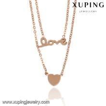 43029- Collier de style en acier inoxydable collier belle personnalisé pour l'amour