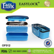 EASYLOCK plastic bento lunch box in stackable double layers