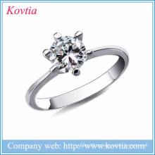 Novos produtos 2016 prata cinza metal prata 925 prata esterlina jóias casamento prata jóias 925 anéis naturais