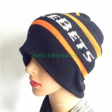 Winter 100% Acrylic Hat Women Knitted Beanie New Fashion Winter Ski Hat Skull Cap Slouchy Hat