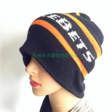 Inverno 100% Chapéu Acrílico Mulheres Knitted Beanie Nova Moda Inverno Esqui Hat Cap Crânio Slouchy Hat