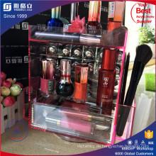 China Hersteller Pink Farbe Rotierende Acryl Lippenstift Display