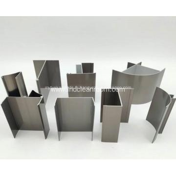 Profilé en aluminium pour porte de salle blanche