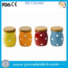 Colorful Polka DOT Cermic Storage Mini Jar