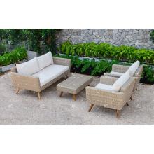 Ensemble de canapé en rotin en PE le plus vendu pour jardin extérieur ou salon