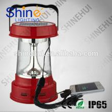 Precio competitivo 3W pequeña luz solar portable del LED con el cargador del teléfono móvil
