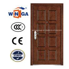 Preço mais vendido Winga Security Steel MDF Armored Door (W-A6)