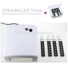 2016 heiße verkaufende weiße UV-Lampe 36W 220-240V Gel-kurierend Nagel-Kunst (EU-Stecker) mit 4pcs 365nm UVbirne + 1pcs Stecker