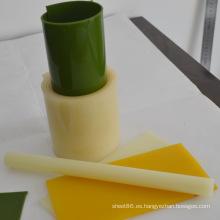Rollo de PU verde / Barra de PU amarilla clara / Hoja de PU amarilla