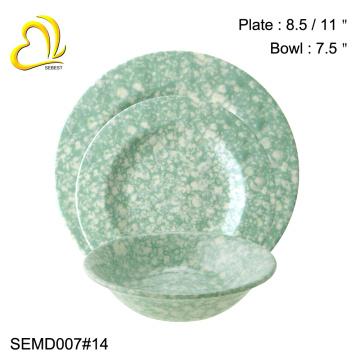 logo personnalisé beauté ronde vaisselle en mélamine