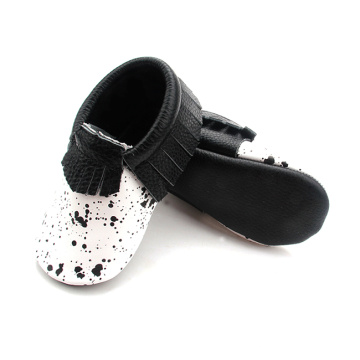 Nuevo Producto Black Spot Leather Valuable Quality Moccasins