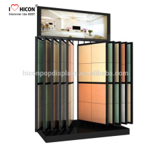 Catching Eyes Of Contractors Home Owners Heavy Duty Floor Mosaic Or Ceramic Tile Display Rack Unit Slide Tiles Display Stand