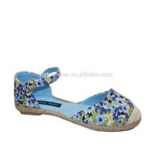 2015 Fábrica Nova Vintage menina casual sapatos planos sapatos de impressão de algodão