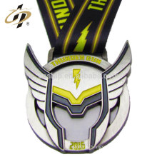 Custom zinc alloy superman logo metal sports medals with ribbon