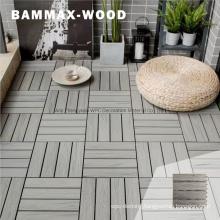 Cost-Effective Home Garden Balcony Online Embossed Wood Look Interlocking Tile