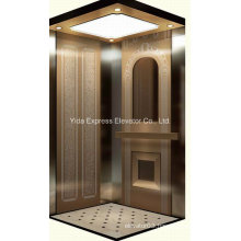 Luxury with Rose Gold Mirror Stainless Steel Home Elevator