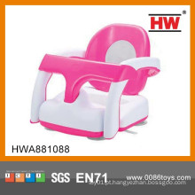Alta qualidade 2 em 1 cadeira de banho de plástico rosa e branco para o bebê
