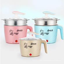 amazon 18CM Electric Heated Cooking Pot with  Colorful Plastic Shell  for Children and Students' usage electric slow coo
