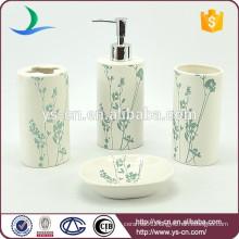 Ceramic beautiful china bathroom accessory with blue flowers