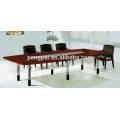 reddish brown steel legs meeting table for 4 6 people customized