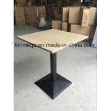 Table à manger carrée avec joint en acier inoxydable (FOH-BC46C)