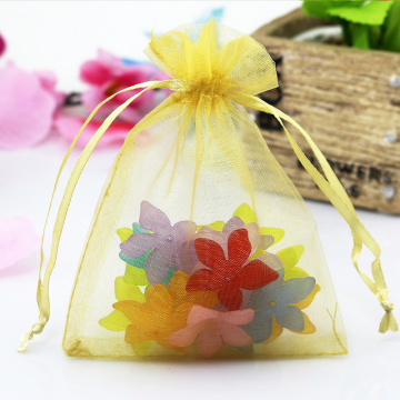 Jewelry custom logo organza gift bag