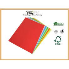 Placa de papel colorido (225GSM - 5 cores brilhantes misturadas)