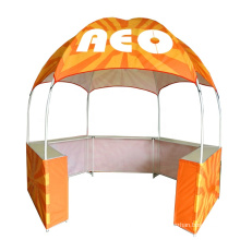 Dome kiosk hexagon promotional canopy tent easy carry collapsible commercial gazebo with tables