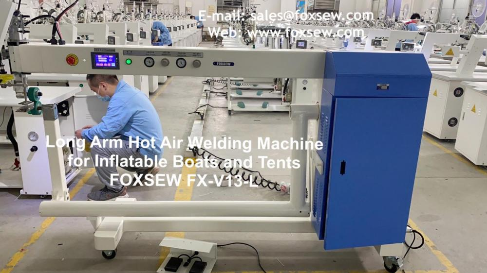 Long Arm Hot Air Welding Machine For Inflatable Boats And Tents Foxsew Fx V13 L