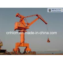 Shipyard Portal Harbour Crane with Hydraulic Grab Bucket