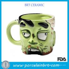 Regalo de cerámica creativa de la novedad de la taza del zombi
