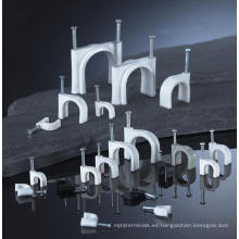 Clips de cable planos de nylon del alambre eléctrico de 100pcs / bag 12m m con, aprobación del CE