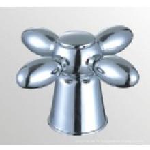 Poignée de robinet en plastique ABS avec finition chromée (JY-3058)
