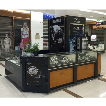 Watch Display Furniture Wooden Glass Counter Display Wrist Watch Display Counter for Mall
