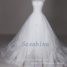 Photos réelles 2017 perles en dentelle robe de mariée robe de bal nuptiale