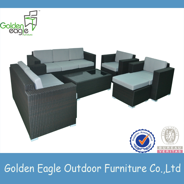 garden PE rattan furniture outdoor sofa