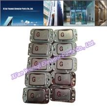 Boutons de boutons LG Accessoires élévateurs élévateurs Bouton poussoir en acier inoxydable Braille