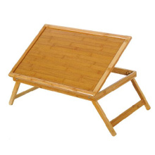Multi-funcional Bamboo Bed Table Wood con pies de piernas