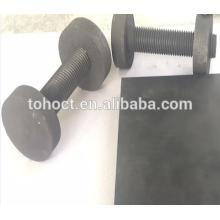 Goupille en céramique de vis de fileté de carbure de silicium de carbure de céramique de RBSIC / SISIC / SSIC