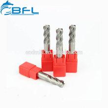 Tungsteno BFL CNC Larga flauta Carburo sólido Tamaño normal Molino de punta redonda Fresas Herramientas para troquel de trabajo
