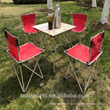 Mesa dobrável portátil e conjunto de cadeira Novo design mesa de acampamento dobrável ao ar livre